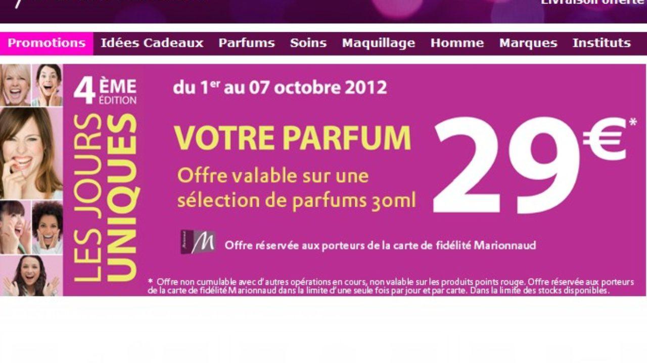 Vente Flash Marionnaud 29 Euros Le Parfum Chanel Ysl Dior Armani