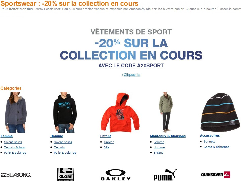 BON DE PROMO AMAZON SWEAT