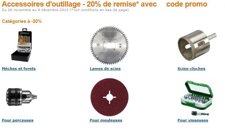 CODE PROMO AMAZON ! 20% sur plus de 1400 accessoires d'outillage (Mèches, forets, Lames, accessoires pour perceuses, meuleuses, visseuses…)