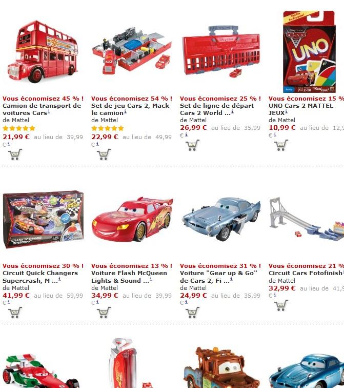 Odr10 Remboursés De Mattel Cars Pour 40 Jouets Euros D'achat 54ALRj