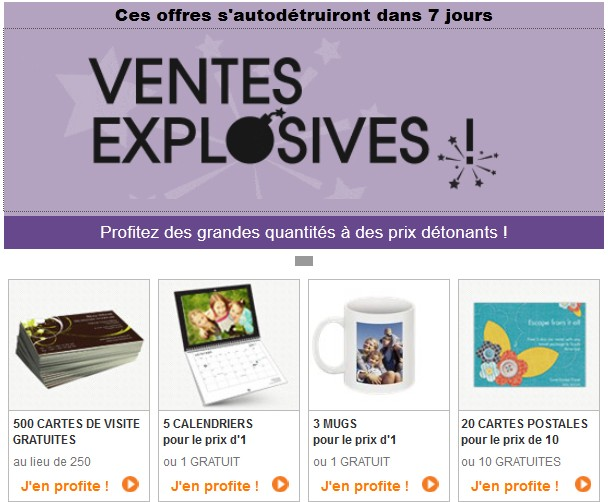 Promos et produits gratuits pendant 7 jours sur Vistaprint (cartes de vœux, calendrier, stylos, étiquettes, mugs, porte-clés…)