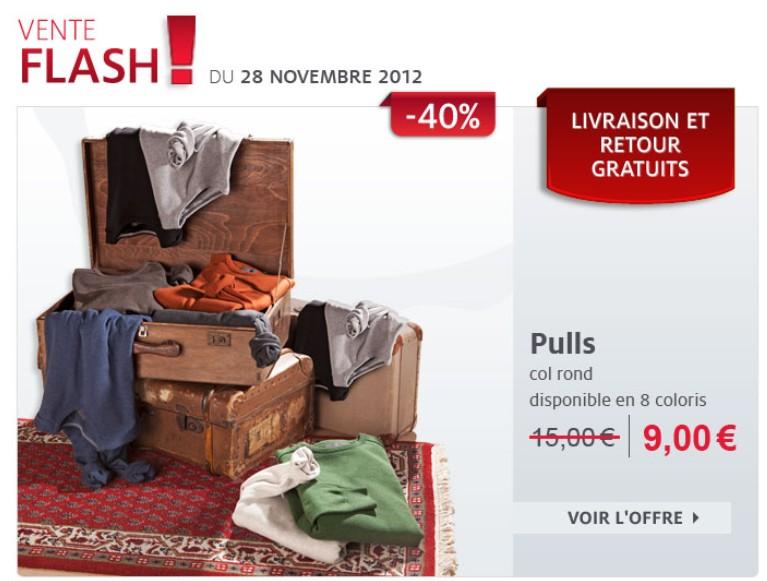 Vente flash C&A ! Pull homme 100% coton (6 coloris) à seulement 9 euros au lieu de 15 euros aujourd'hui seulement