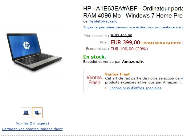 Vente flash ordinateur portable hp intel core i3 windows 7 home premium - Ordinateur vente flash ...