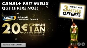 Canal plus 20 euros par  mois au lieu de 39 euros plus 3 mois gratuits avec le code 3CAN