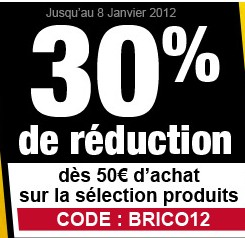 code promo 30 de r duction imm diate sur presque 200 articles de bricolage et loisirs auchan. Black Bedroom Furniture Sets. Home Design Ideas