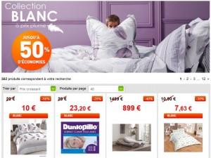 Jusqu'à moins 50% sur le Blanc sur Auchan.fr