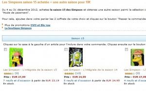 Les Simpson saison 15 en DVD achetée = une autre saison pour seulement 10 euros (15 euros d'économie)