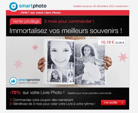 promo livre photo a moins 70 smartphoto a seulement 10 19 euros au lieu de 33 95 euros. Black Bedroom Furniture Sets. Home Design Ideas
