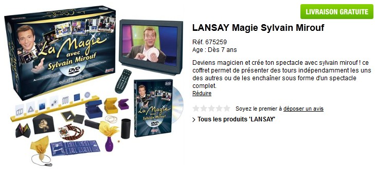 moiti prix boite de magie dvd sylvain mirouf de lansay seulement 19 99 euros au lieu de. Black Bedroom Furniture Sets. Home Design Ideas