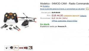 PROMO Hélicoptère télécommandé à Camera Modelco à moins de 45 euros (port inclus) vendu entre 55 et 99 ailleurs