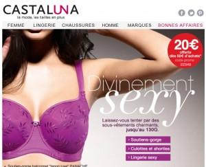 PROMO ! Jusqu'à moins 70% sur la lingerie grande taille chez Castaluna  !