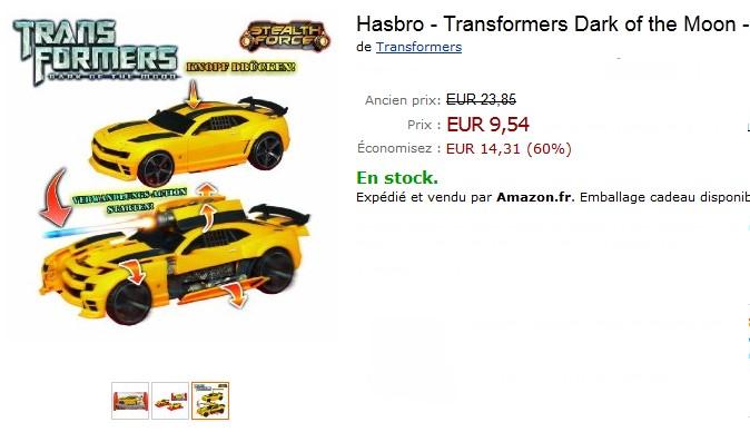 PROMO Véhicule Stealth Force Bumblebee Transformers de Hasbro à moins de 10 euros au lieu de 23,85 euros