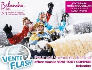 Vente Flash Belamdra ! moins 35% sur les séjours au ski Noel et Jour de l'an