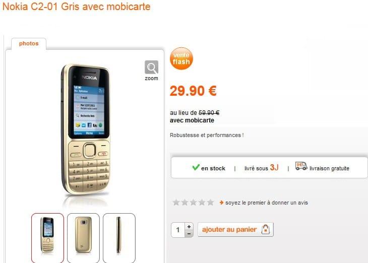Vente flash t l phone nokia c2 01 gris seulement 29 90 - Vente flash internet ...