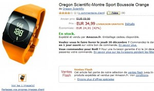 Vente Flash ! Montre boussole Oregon Scientific à seulement 34,99 euros (port inclus) au lieu de 59,90 euros
