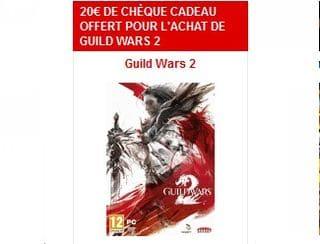 20 euros en chèque cadeau pour l'achat jeu vidéo PC Guild Wars 2