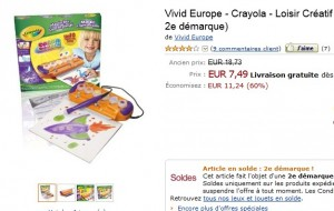7,50 euros l'ensemble Color Wonder Crayola – vendu 24,99 euros chez Toys r US