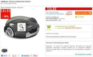 79 euros l'aspirateur Robot Simmons Trc40 (port compris) au lieu du double - SOLDES