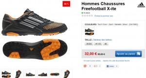 Basket Freefootball X-ite Adidas a moitie prix 32 euros