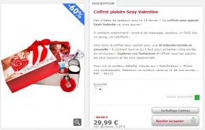 Coffret plaisirs Sexy Valentine
