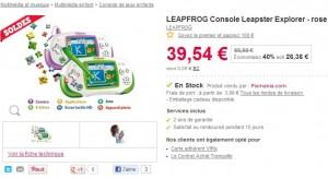 Console Leapster Explorer rose LEAPFROG a seulement 43 53 euros (port inclus)