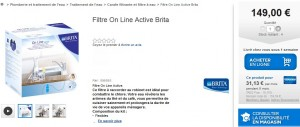 Filtre On Line Active Brita Castorama