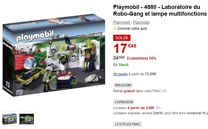 camera espionnage playmobil a seulement 28 17 euros. Black Bedroom Furniture Sets. Home Design Ideas