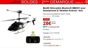 Mini Helicoptere pilotable par Smartphone a 28 euros au lieu de 67 euros