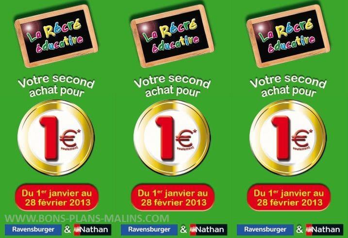 Offre 2 jeux ravensburger nathan achetes 1 jeu a 1 euros ODR 2013 Opération 2 jeux Ravensburger achetés = 1 jeu à 1 euros (ODR)