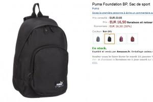 Puma Foundation BP Sac de sport noir
