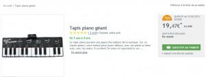 SOLDES Tapis piano geant a seulement 25 euros (port inclus) vendu plus de 45 euros chez Amazon