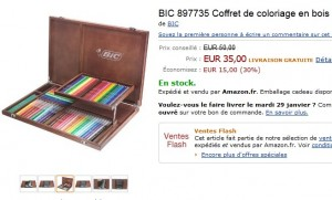 VENTE FLASH Coffret de coloriage en bois Edition Limitee BIC