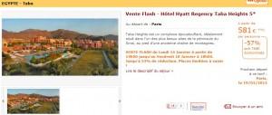 Vente Flash - Hotel Hyatt Regency Taba Heights