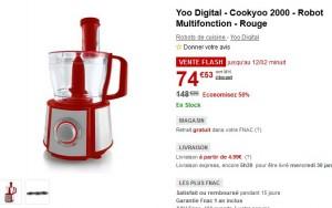 Yoo Digital - Cookyoo 2000 - Robot Multifonction - Rouge