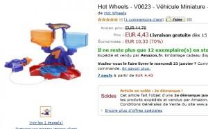 Atelier de Customisation et 1 véhicule Hot Wheels à seulement 4,43 euros - SOLDES
