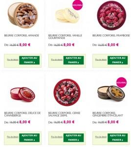 Beurre Corporel Body Shop à moitié prix pendant les soldes !