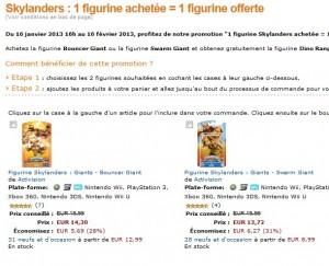 Bon plan : 1 figurine Skylanders achetée = 1 figurine gratuite