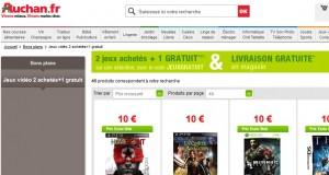 BON PLAN ! 1 jeu gratuit pour l'achat de 2 jeux vidéo (PS3, Xbox 360, Wii, PSP, PC)