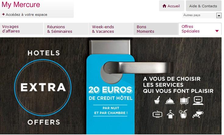Hotel mercure 20 euros gratuits de cr dit h tel par nuit for Hotel bon plan