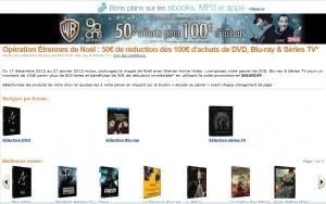 Bon plan Blu-ray/DVD Warner Bros ! 50 euros de remise pour 100 euros d'achat