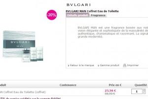 Bon plan BVLGARI MAN Coffret Eau de Toilette à seulement 23,56 euros