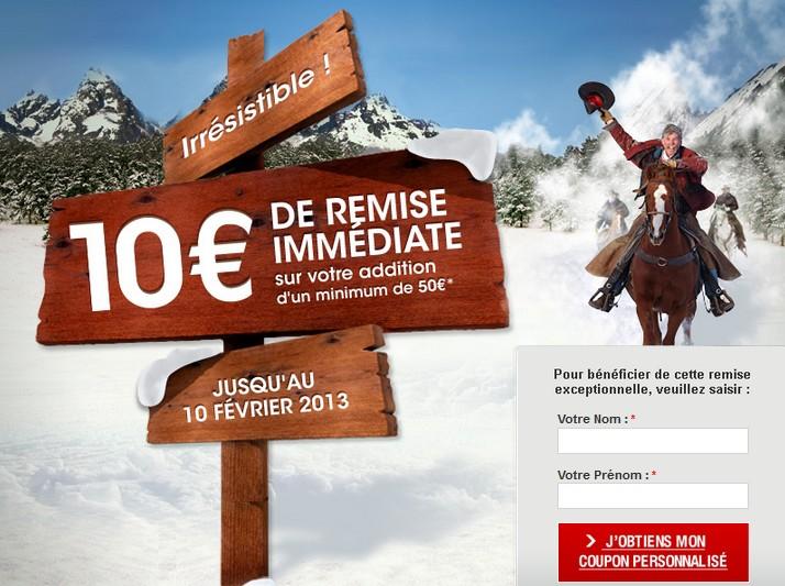 Bon de reduction buffalo grill 10 euros - Buffalo grill accepte les cheques vacances ...