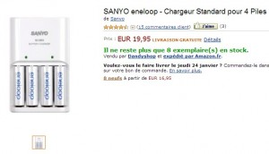 SANYO eneloop - Chargeur Standard pour 4 Piles