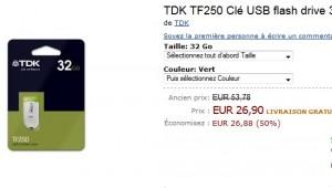 Clé USB flash drive 32 Go TDK a seulement 26,90 euros (port inclus) – DEUXIEME DEMARQUE AMAZON