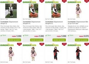 Déguisements enfants soldés jusqu'à moins 60% (+ autres soldes jouets/jeux)