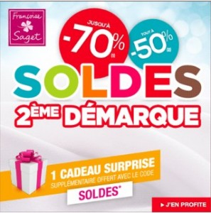2eme démarque moins 70% sur le linge de maison + code promo cadeau chez Françoise Saget