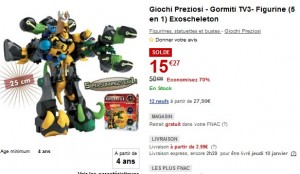 Figurine 25cm (5 en 1) Gormiti TV3- Exoscheleton  Giochi Preziosi a seulement 15,27 euros !! (au lieu de plus de 45 euros)