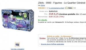 Zibits le Quartier Général à seulement 8,25 euros (vendu plus du double ailleurs)