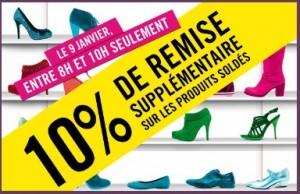 la halle aux chaussures soldes 10 pourcents en plus