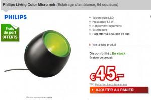 Le moins cher ! Philips Living Color Micro noir 64 couleurs à seulement 45 euros frais de port inclus (56 euros chez Amazon)